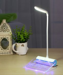 USB Rechargeable Desk Lamp With Message Board Book Light 4