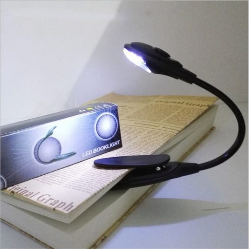Led Book Light Mini Clip-On Flexible Bright Book Reading Lamp