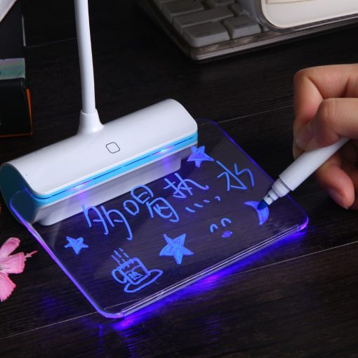 USB Rechargeable Desk Lamp With Message Board Book Light 10