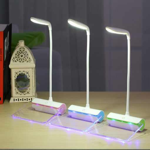 USB Rechargeable Desk Lamp With Message Board Book Light
